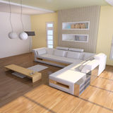Indoor contemporary sitting room Royalty Free Stock Image