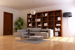 Indoor contemporary sitting room Royalty Free Stock Photography