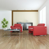 Indoor contemporary sitting room Royalty Free Stock Photo
