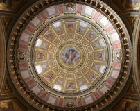 Indoor Cupola of St. Istvan Basilica Royalty Free Stock Images