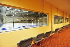 Indoor curling rinks Stock Photos