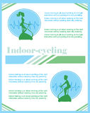 Indoor Cycling flyer Royalty Free Stock Images