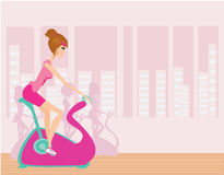 Indoor Cycling Royalty Free Stock Photography