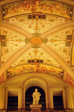 Indoor decoration. The classic style ceiling and a marble statue Royalty Free Stock Photos