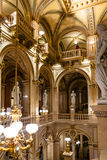 Indoor decoration of Vienna State Opera House Royalty Free Stock Images