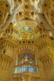 Indoor detail of famous church from Barcelona of Spain, 05 Juny Stock Image