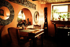 Indoor of a elegant restaurant Stock Photography
