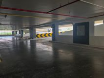 Empty car parking lot and ramp building Stock Images