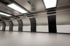 Indoor empty factory Royalty Free Stock Image