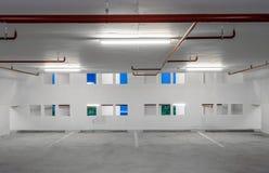 Indoor empty parking lot Stock Image
