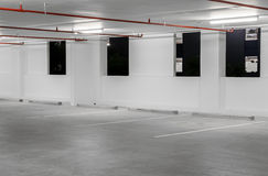 Indoor empty parking lot Royalty Free Stock Photography
