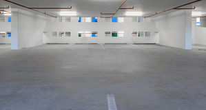 Indoor empty parking lot Stock Photography