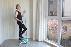 Free Indoor Exerciser, Home Aerobics Stock Photography - 176984532