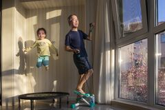 Free Indoor Exerciser, Home Sporting Stock Photography - 177021142