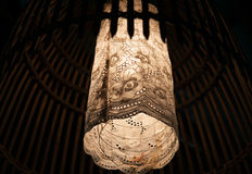 Indoor fabric lamp Royalty Free Stock Photography