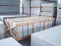 Indoor Factory Warehouse for Fiber Cement Board St Stock Photography