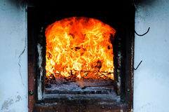 Indoor fire Royalty Free Stock Photo