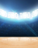 Indoor Floodlit Gymnasium Stock Image