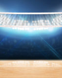 Indoor Floodlit Volleyball Court Royalty Free Stock Photo