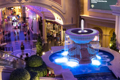 Indoor Fountain at Caesars Palace Forum Stock Photography