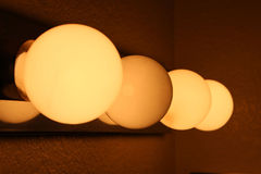 Four lights. Indoor four lights technology business Royalty Free Stock Images