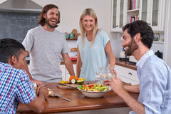 Indoor friends gathering Royalty Free Stock Images