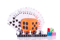 Indoor games. Isolated over white Stock Photo