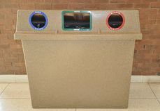 Indoor garbage bin Stock Image