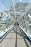 Indoor glass walkway Royalty Free Stock Photography