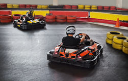 Indoor go kart Stock Image