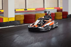Indoor go kart Stock Images