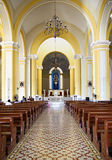 Indoor Granada catholic church Royalty Free Stock Photo