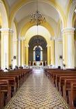 Indoor Granada catholic church Royalty Free Stock Photo