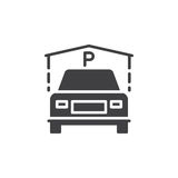 Indoor Guest Parking icon vector, filled flat sign, solid pictogram isolated on white Stock Images