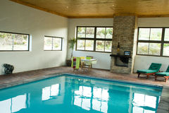 Indoor heated swimming pool Royalty Free Stock Image