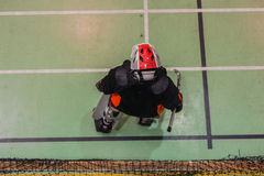 Indoor Hockey Goalkeeper Stock Image