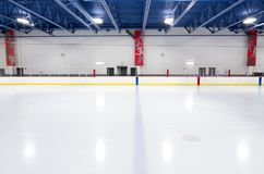 Indoor Hockey Rink at Blue Line Royalty Free Stock Image