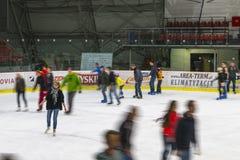 Indoor Hockey rink Stock Photo