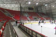 Indoor Hockey rink Royalty Free Stock Photo