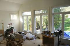 Indoor House Renovation. In Living Room royalty free stock photos