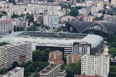 Indoor ice hockey arena and football stadium, Grenoble, France royalty free stock photos