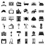 Indoor icons set, simple style. Indoor icons set. Simple style of 36 indoor vector icons for web isolated on white background Stock Image