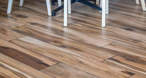 Indoor imitation decorative wooden floor royalty free stock images
