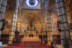Indoor interior of cathedral Duomo on Miracoli Squ. Are of Miracles in Pisa, Tuscany Italy Stock Image