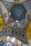 Indoor interior of the church. West Ukraine. Royalty Free Stock Images