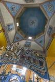 Indoor interior of the church. West Ukraine. Indoor interior of the Old Church. Monument of architecture of 19 centuries. West Ukraine. Summer royalty free stock images