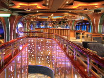 Indoor interior on the cruise ship. Restorant indoor interior on the cruise ship Stock Image
