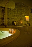 Indoor jacuzzi. An indoor jacuzzi in a dimly lit Spa royalty free stock photo