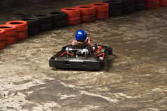Indoor karting stock photos