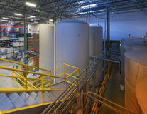 Indoor liquid storage tanks Royalty Free Stock Photography